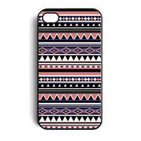 iPhone 4 / 4s Indianer Muster Aztec Tribal Hartschalenhülle Hülle