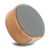 A60 Holz Textur Drahtloser Bluetooth-Lautsprecher - Mini Subwoofer Grau