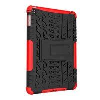 Reifenprofilabdeckung Griffständer TPU Kunststoff iPad mini 4 5 Hülle - Rot