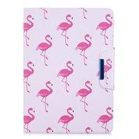 Flamingo Flip Case Lederbezug Standard iPad 2017 2018 - Weiß Pink