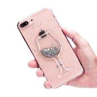 Glitter Weinglas Transparente Hülle iPhone 7 Plus 8 Plus