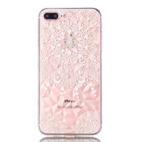 Mandala Diamond Look Hülle iPhone 7 Plus 8 Plus - Transparent