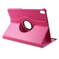 Leder Litchi Grain Hülle drehbarer Ständer iPad Pro 11-Zoll 2018 - Pink