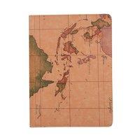 Weltkarte Impressum Leder iPad Pro 11-Zoll 2018 Case Cover drehbarer Ständer - Braun