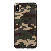 Tarnung TPU Tarnhülle Armee iPhone XS Max - Armee Grün
