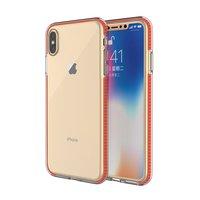 Schutzhülle für farbige Kanten iPhone XS Max Hülle TPE TPU Rückseite - Orange