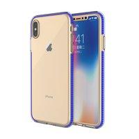 Schutzhülle für farbige Kanten für iPhone XS Max Hülle TPE TPU Rückseite - Blau