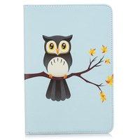 Owl Flip Case Leder Flip Cover Standard iPad Mini 4 5 - Hellblau