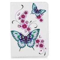 Schmetterlinge Blumen Flip Case Leder Flip Cover Standard iPad Mini 4 5 - Weiss