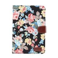 Blumen Rosen bunte Leder Flip Cover Standard iPad Mini 4 5 - Schwarz