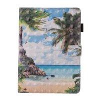 Strand tropische Insel Flip Case Lederhülle iPad Mini 1 2 3 4 5 - Blau Grün