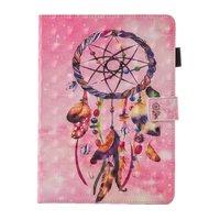 Dreamcatcher Feder Flip Fall Lederhülle iPad Mini 1 2 3 4 5 - Pink