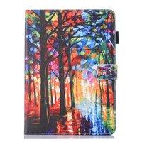 Wald künstlerische Malerei Leder Flip Case Schutzhülle iPad mini 1 2 3 4 5 - Bunt