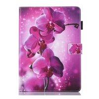 Orchidee Blume Flip Fall Lederhülle iPad Mini 1 2 3 4 5 - Lila Pink
