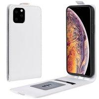 Vertical Flip Brieftasche aus Kunstleder für iPhone 11 Pro Max - Weiß