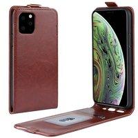 Vertical Flip Brieftasche aus Kunstleder für iPhone 11 Pro - Braun