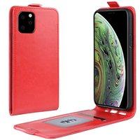 Vertical Flip Brieftasche aus Kunstleder für iPhone 11 Pro - Rot