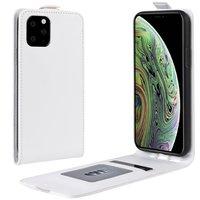 Vertical Flip Brieftasche aus Kunstleder für iPhone 11 Pro - Weiß