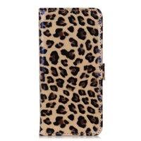 Leopardenbezug Leoparden Brieftasche Bücherregal iPhone 11 Pro Max - Braun