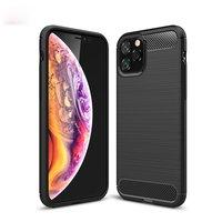 Carbon Armor Schutzhülle stoßfest TPU iPhone 11 Pro - Schwarz