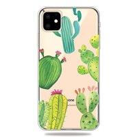 Fröhliche flexible Kaktushülle iPhone 11 TPU Hülle - Transparent