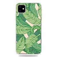 Naturgrüne Blätter Bananenpflanze Dschungelhülle iPhone 11 TPU Hülle - Transparent