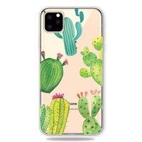 Fröhliche flexible Kaktushülle iPhone 11 Pro TPU Hülle - Transparent