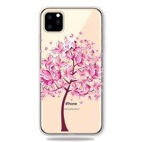 Warme flexible Schmetterlinge Baum rosa Hülle iPhone 11 Pro TPU Hülle - Transparent