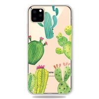 Fröhliche flexible Kaktushülle iPhone 11 Pro Max TPU Hülle - Transparent