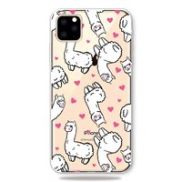 Tiere Cocky Alpaca Hearts Fall iPhone 11 Pro Max TPU Fall - Transparent