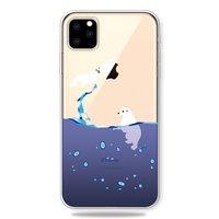 Meerwasser Blau Tropfen Eisbär Dichtung Fall iPhone 11 Pro Max TPU Fall - Klar