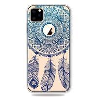 Traumfänger Mandala Web Blue Feathers Spirituelle Hülle iPhone 11 Pro Max TPU Hülle - Klar