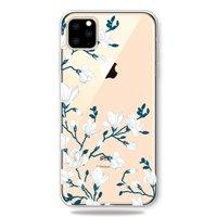 Blumen weiße Hülle TPU Blüte iPhone 11 Pro Max - Transparent