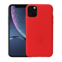 Weiche seidige iPhone 11 rote Hülle TPU Hülle - rot