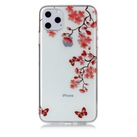 Blumen Blüte Schmetterlinge Rot Natur Fall TPU iPhone 11 Pro Max - Transparent