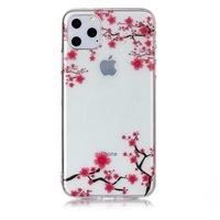 Blumen Rosa Zweige Natur Fall Fall TPU iPhone 11 Pro Max-Transparent