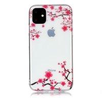 Blumen Rosa Zweige Natur Fall TPU iPhone 11 - Transparent