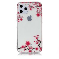 Blumen Rosa Zweige Natur Fall TPU iPhone 11 Pro - Transparent