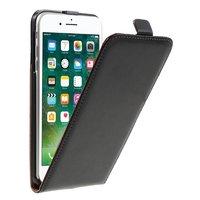 Vertikale Flip Standhülle aus geteiltem Leder iPhone 7 Plus 8 Plus - Schwarz