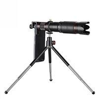 HD 4K 36X Zoom Tele Teleskop Objektiv für Ihr Telefon + Stativ - Schwarz