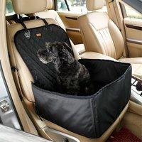 Hund Autositzbezug Haustier Sitzkorb wasserdicht - Schwarz