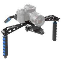 Faltbare Kamera RIG Stabilisator DSLR Kamera Aluminium Schulterstativ - Schwarz Blau
