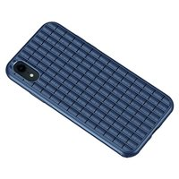 iPaky Waffel Schutz TPU Hülle iPhone XR Hülle - Blau