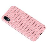 iPaky Waffel Schutz TPU Hülle iPhone XR Hülle - Pink