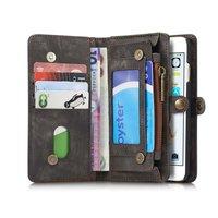 Caseme Split Leder iPhone 6 Plus 6s Plus Brieftasche Bücherregal Brieftasche Etui - Grau