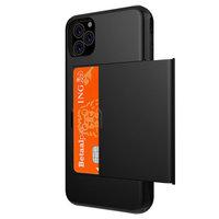 Kartenhalter Hülle Brieftasche TPU Hartschale iPhone 11 Pro Max - Schwarz
