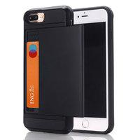 Versteckter Kartenhalter iPhone 7 Plus 8 Plus schwarze Hartschale