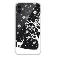Weihnachten flexible Schneedecke Winter Fall Weihnachten iPhone 11 - Transparent