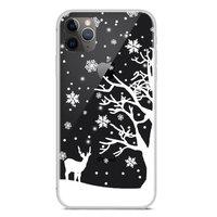 Weihnachten flexible Schneedecke Winter Fall Weihnachten iPhone 11 Pro Max - Transparent