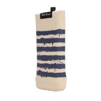 Universal Knitted Sock Insert Case Pouch Telefon MP3-Player - Brown Blue Stripes